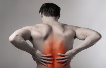 a man with back pain