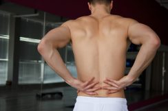 man suffering from pain in lower back