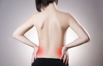 woman with sciatic back pain