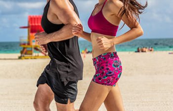 healthy running couple